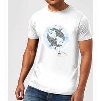 Barlena Orcalaxy Mens T-Shirt - White - M - White