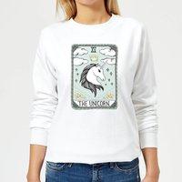 Barlena The Unicorn Women's Sweatshirt - White - S - White