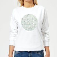 Barlena Paper Planes Women's Sweatshirt - White - XXL - White