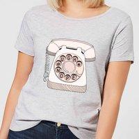 Barlena Phone Call Women's T-Shirt - Grey - S - Grey