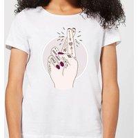 Barlena Fingers Crossed Women's T-Shirt - White - S - White