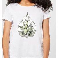 Barlena Succulent Terrarium Women's T-Shirt - White - XL - White