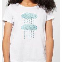Barlena Rainy Days Women's T-Shirt - White - XL - White