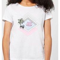 Barlena Flamingos Paradise Women's T-Shirt - White - XL - White