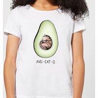 Barlena Avo-Cat-O Women's T-Shirt - White - XXL - White