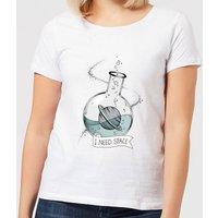 Barlena I Need Space Women's T-Shirt - White - S - White