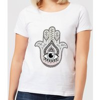 Barlena Hamsa Hand Women's T-Shirt - White - S - White