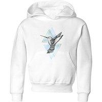 Barlena Hummingbird Kids' Hoodie - White - 7-8 Years - White