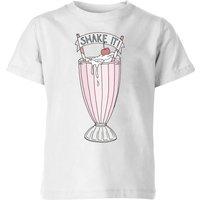 Barlena Shake It Kids' T-Shirt - White - 5-6 Years - White