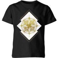 Barlena Compass Kids' T-Shirt - Black - 9-10 Years - Black