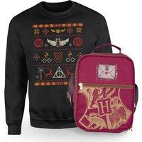 Harry Potter Hogwarts Sweatshirt & Bag Bundle - Black - Kids' - 3-4 Years - Nero