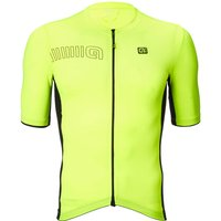 Ale Solid Block Jersey - L - Black/Fluo Yellow