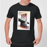 Brooklyn Bridge Men's T-Shirt - Black - XXL - Black