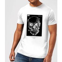 Distorted Skull Mens T-Shirt - White - XL - White