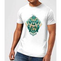 Aquaman Seven Kingdoms Men's T-Shirt - White - 4XL - White