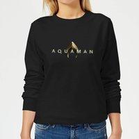 Aquaman Title Women's Sweatshirt - Black - M - Black