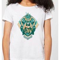 Aquaman Seven Kingdoms Women's T-Shirt - White - S - White