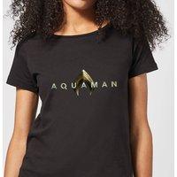 Aquaman Title Women's T-Shirt - Black - L - Black