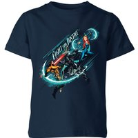 Aquaman Fight for Justice Kids' T-Shirt - Navy - 3-4 Years - Navy
