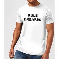 Rule Breaker Mens T-Shirt - White - 4XL - White