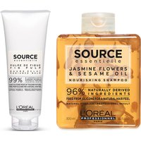 L'Oreal Professionnel Source Essentielle Dry Hair Shampoo and Hair Balm Duo