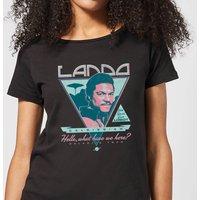 Star Wars Lando Rock Poster Women's T-Shirt - Black - M - Black