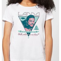 Star Wars Lando Rock Poster Women's T-Shirt - White - M - White