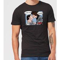 Star Wars Leia Han Solo Love Men's T-Shirt - Black - L - Black