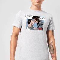 Star Wars Leia Han Solo Love Mens T-Shirt - Grey - 3XL - Grey