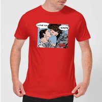 Star Wars Leia Han Solo Love Men's T-Shirt - Red - XL - Red