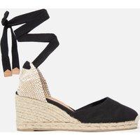 Castaner Women's Carina Espadrille Wedged Sandals - Negro - UK 7
