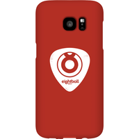 Ei8htball White Plectrum Logo Phone Case for iPhone and Android - Samsung S7 Edge - Snap Case - Gloss - Guitar Gifts
