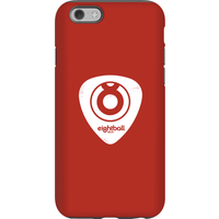 Ei8htball White Plectrum Logo Phone Case for iPhone and Android - iPhone 6 - Tough Case - Gloss - Guitar Gifts