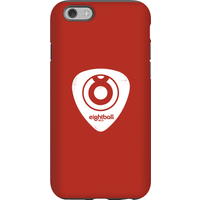 Ei8htball White Plectrum Logo Phone Case for iPhone and Android - iPhone 6S - Tough Case - Gloss - Guitar Gifts