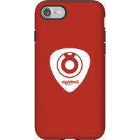 Ei8htball White Plectrum Logo Phone Case for iPhone and Android - iPhone 7 - Tough Case - Gloss - Guitar Gifts