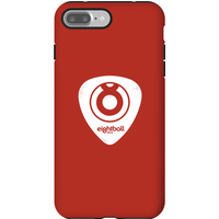Ei8htball White Plectrum Logo Phone Case for iPhone and Android - iPhone 7 Plus - Tough Case - Gloss - Guitar Gifts