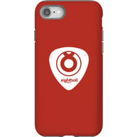 Ei8htball White Plectrum Logo Phone Case for iPhone and Android - iPhone 8 - Tough Case - Gloss - Guitar Gifts