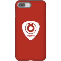 Ei8htball White Plectrum Logo Phone Case for iPhone and Android - iPhone 8 Plus - Tough Case - Gloss - Guitar Gifts