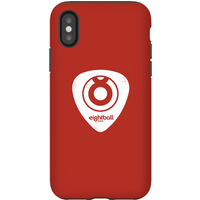 Ei8htball White Plectrum Logo Phone Case for iPhone and Android - iPhone X - Tough Case - Gloss - Guitar Gifts