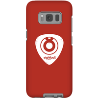 Ei8htball White Plectrum Logo Phone Case for iPhone and Android - Samsung S8 - Tough Case - Gloss - Guitar Gifts