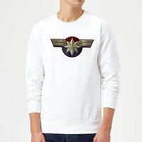 Captain Marvel Chest Emblem Sweatshirt - White - XXL - White