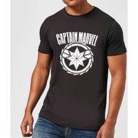 Captain Marvel Logo Men's T-Shirt - Black - M - Black