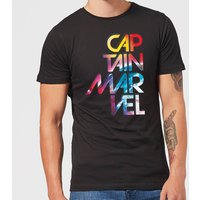Captain Marvel Galactic Text Men's T-Shirt - Black - 4XL - Black