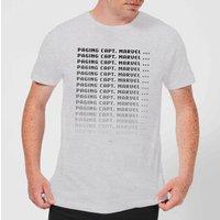 Captain Marvel Paging Men's T-Shirt - Grey - 5XL - Grey