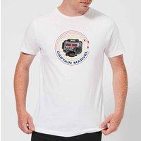 Captain Marvel Pager Men's T-Shirt - White - 3XL - White