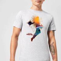 Captain Marvel Nebula Flight Men's T-Shirt - Grey - 5XL - Grey