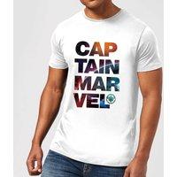Captain Marvel Space Text Men's T-Shirt - White - 3XL - White