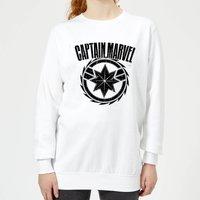 Captain Marvel Logo Women's Sweatshirt - White - S - White