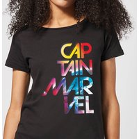 Captain Marvel Galactic Text Women's T-Shirt - Black - XL - Black