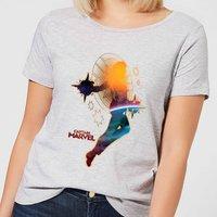 Captain Marvel Nebula Flight Women's T-Shirt - Grey - 4XL - Grey